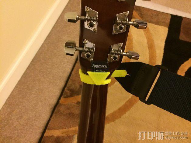 吉他背带夹 3D模型  图6