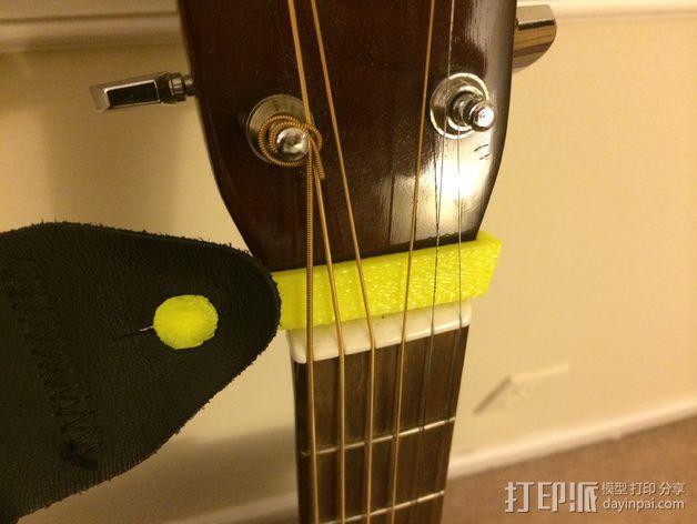吉他背带夹 3D模型  图5