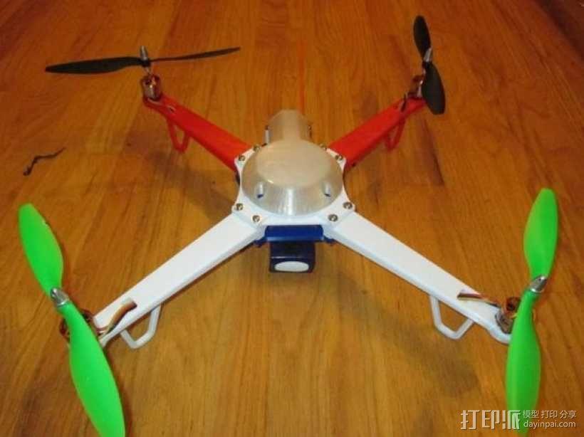 """""""鸽子二号""""四轴飞行器 3D模型  图1"""
