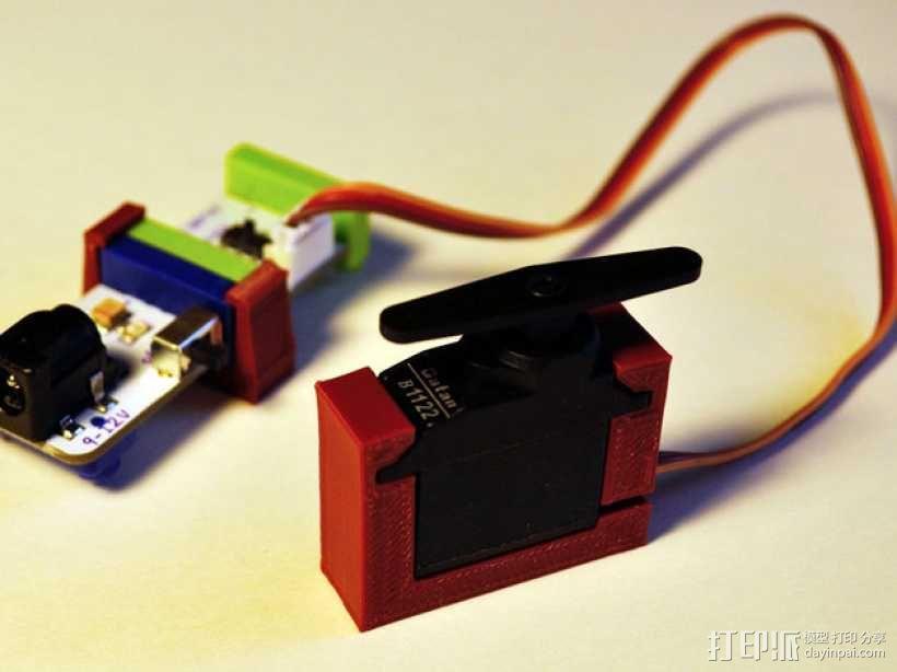 LittleBits伺服器支架 3D模型  图1