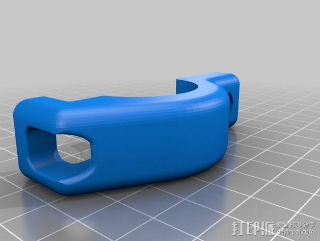 Magicshine 808自行车LED车头灯架 3D模型  图4