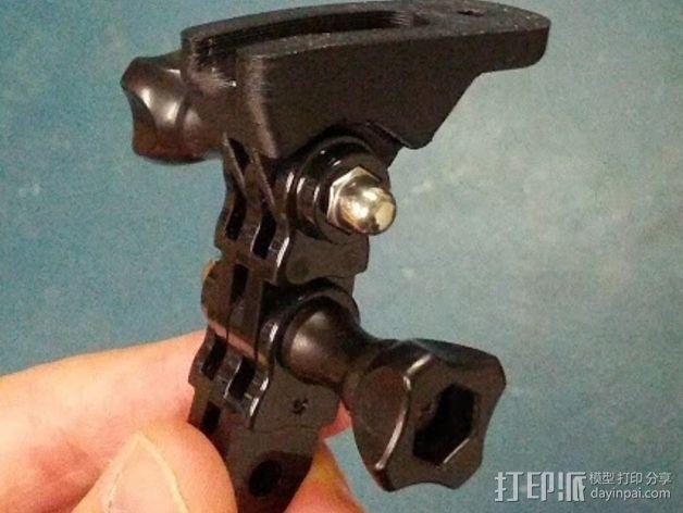 Magicshine 808自行车LED车头灯架 3D模型  图3