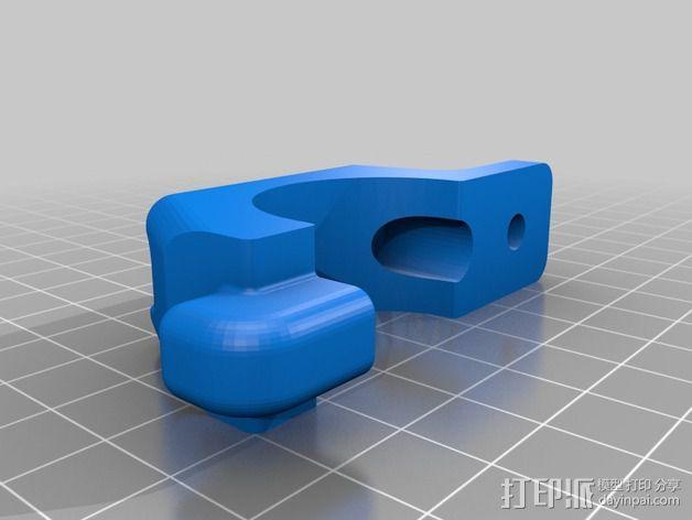 Magicshine 808自行车LED车头灯架 3D模型  图5