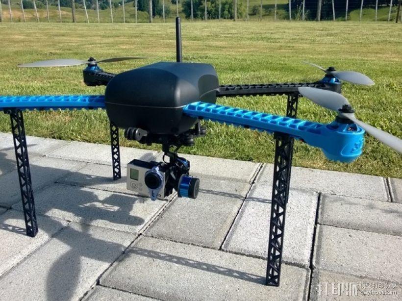 IRIS四轴飞行器常平架配适器 3D模型  图1