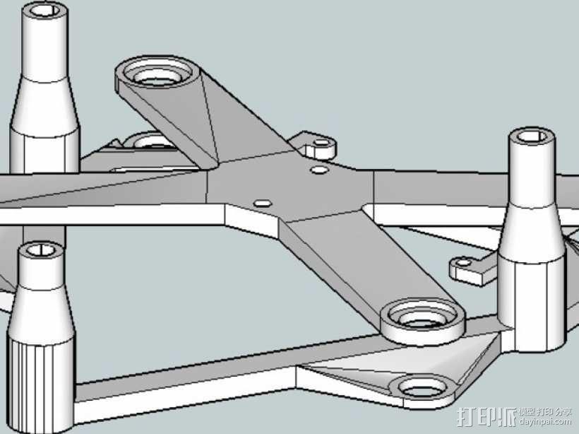 IRIS四轴飞行器常平架配适器 3D模型  图5