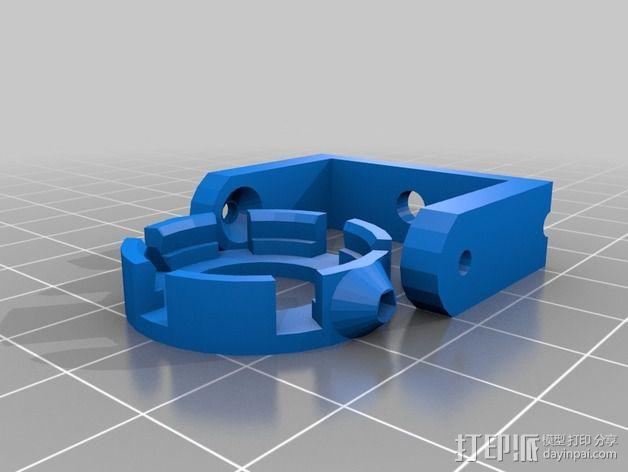 LED照明灯 支架 3D模型  图2