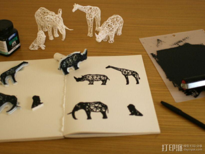 数字化动物邮票 3D模型  图1