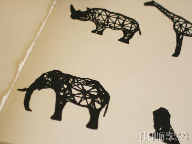 数字化动物邮票 3D模型  图2