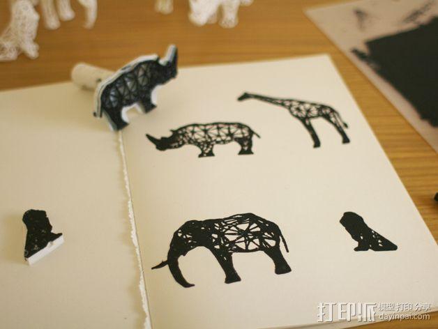 数字化动物邮票 3D模型  图3