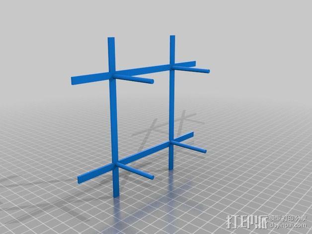 DIY磁力搅拌器 3D模型  图2