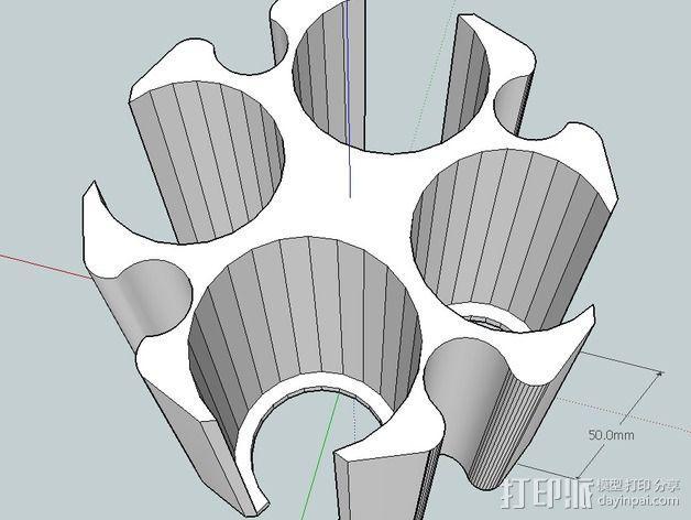 硬币筒 3D模型  图1