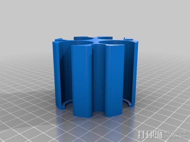 硬币筒 3D模型  图2