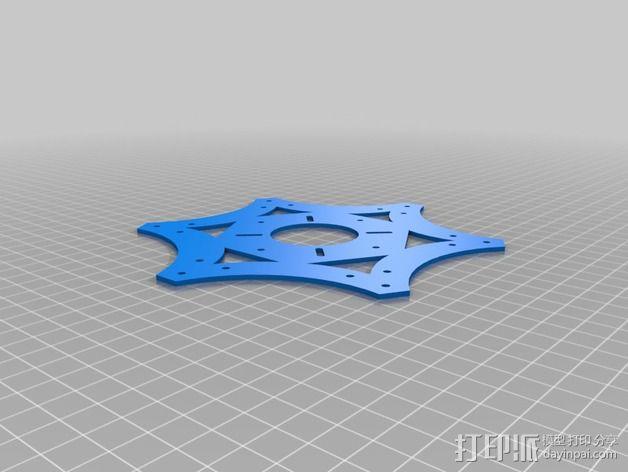 多轴飞行器中心板 3D模型  图2