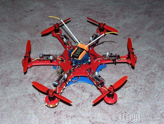 多轴飞行器中心板 3D模型  图5