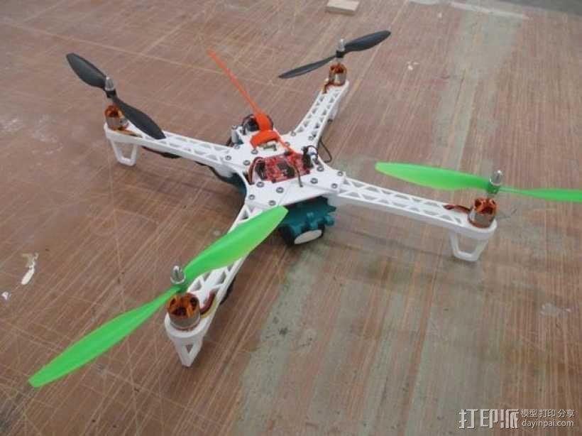 """""""鸽子""""四轴飞行器 3D模型  图1"""