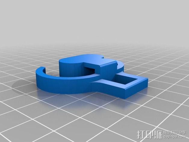 潜水调节器固定夹 3D模型  图2