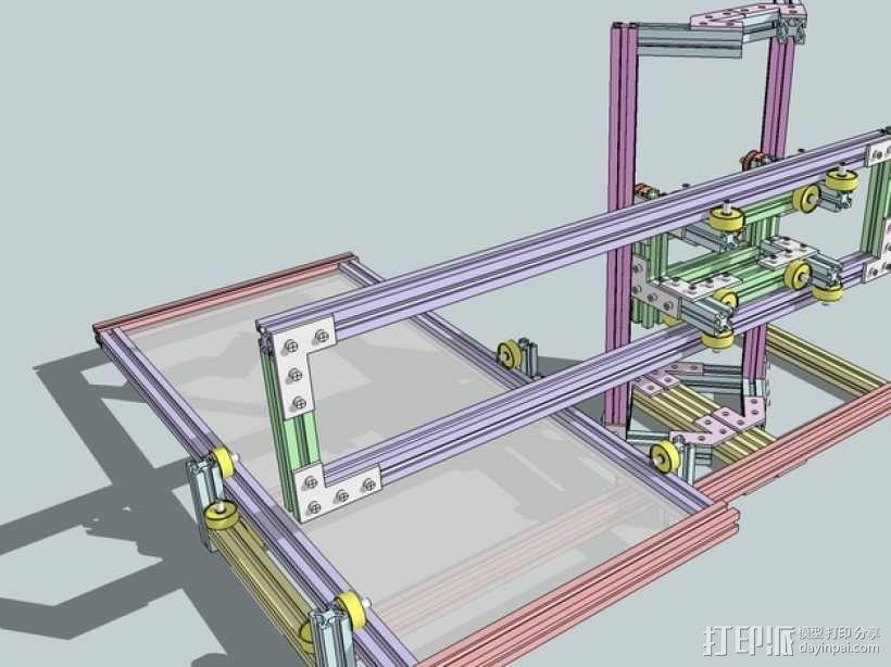 CNC设备框架 3D模型  图1