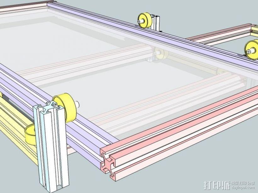 CNC设备框架 3D模型  图3