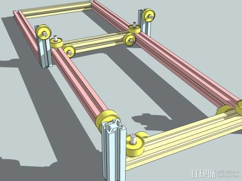 CNC设备框架 3D模型  图2