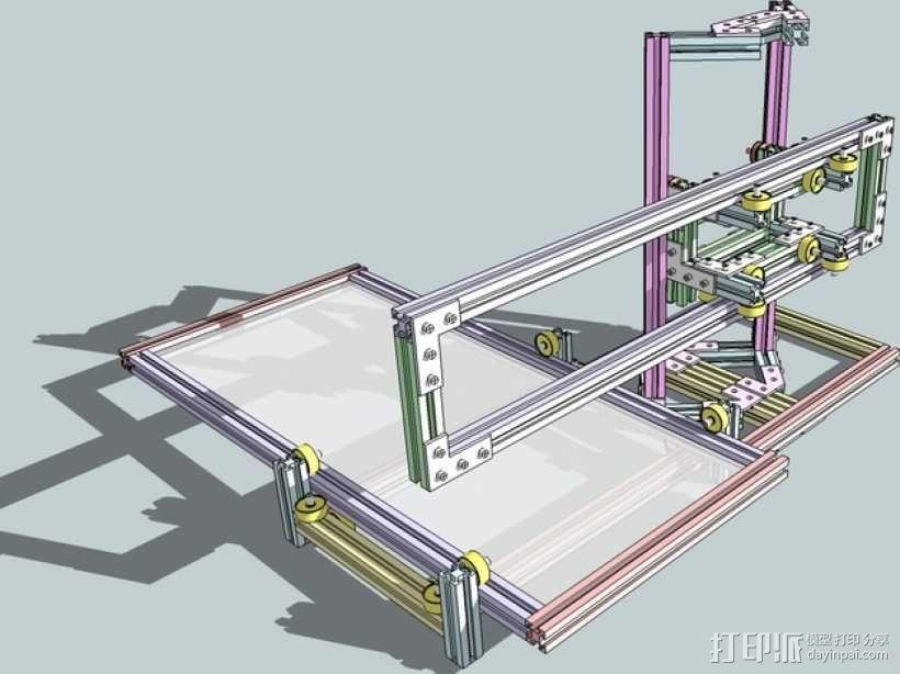 CNC设备框架 3D模型  图6