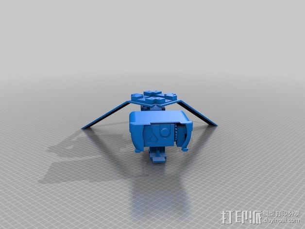 常平架 起落架 3D模型  图2