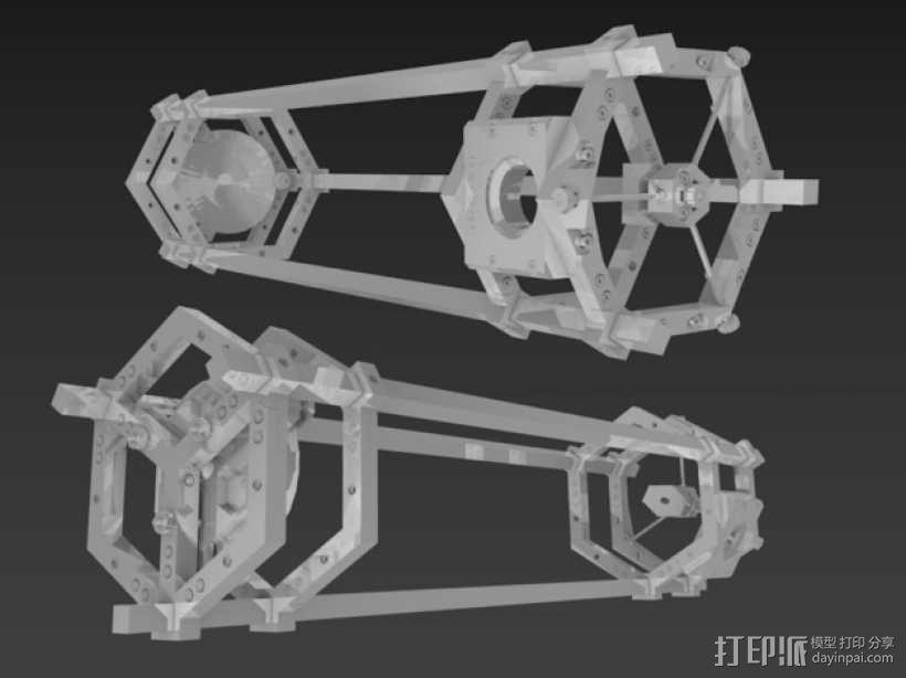 道布森望远镜 3D模型  图5