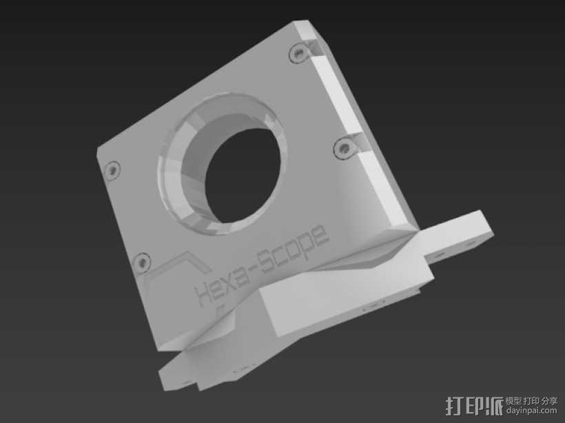 道布森望远镜 3D模型  图8