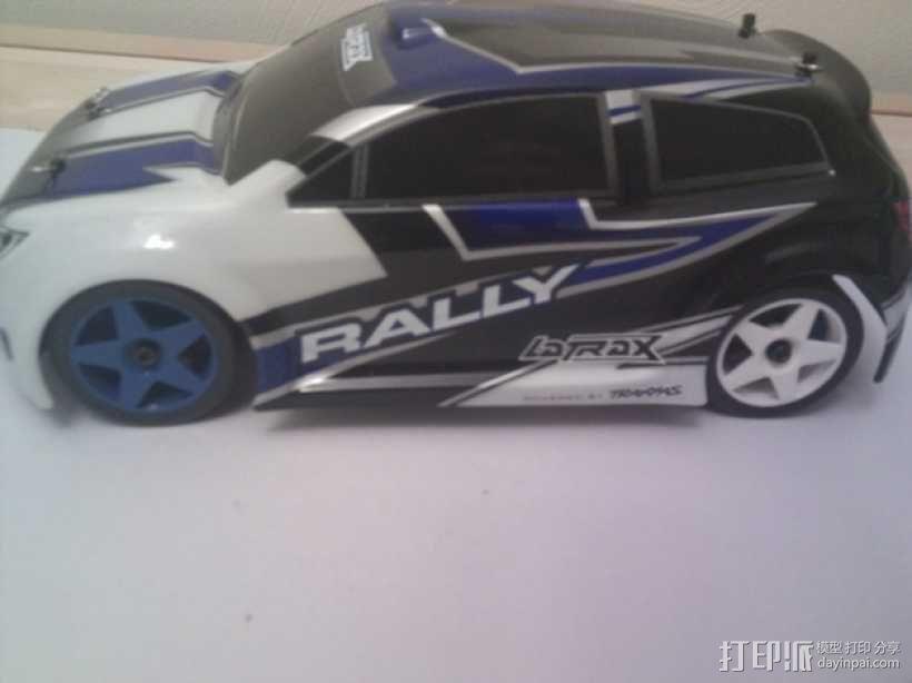 Latrax Rally遥控赛车漂移轮胎 3D模型  图1