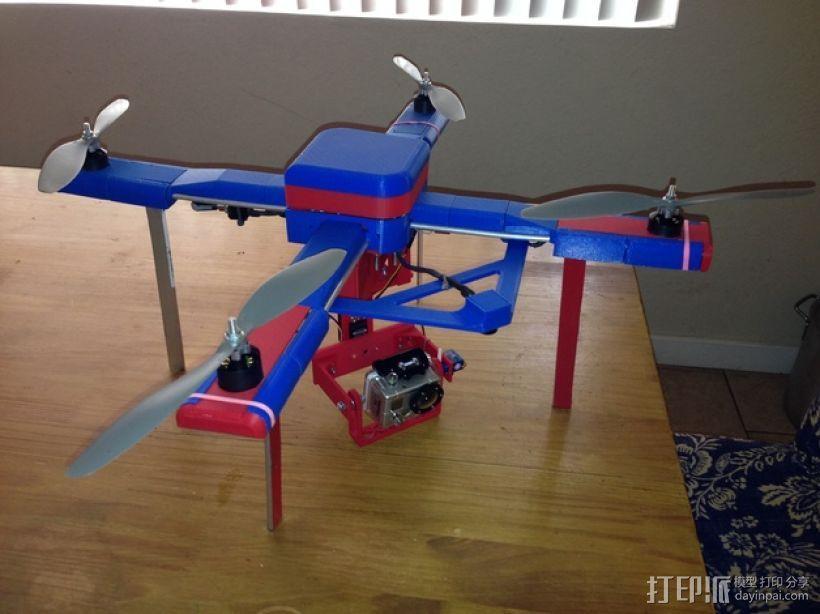 无人机 四轴飞行器 3D模型  图1