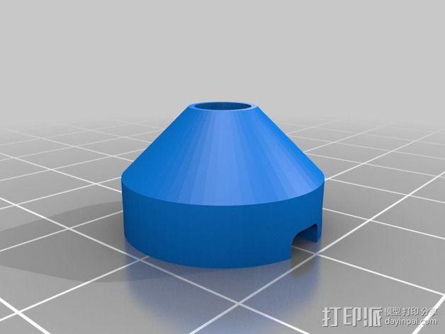 5毫米LED灯底座 3D模型  图2