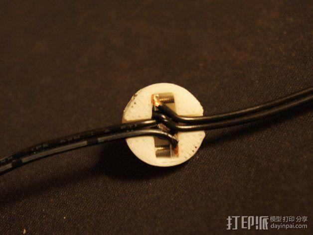 5毫米LED灯底座 3D模型  图4