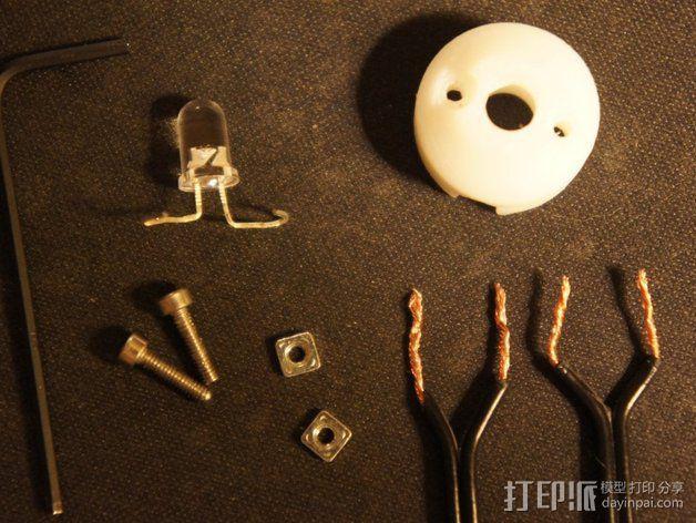 5毫米LED灯底座 3D模型  图6