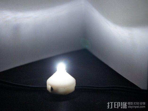 5毫米LED灯底座 3D模型  图7