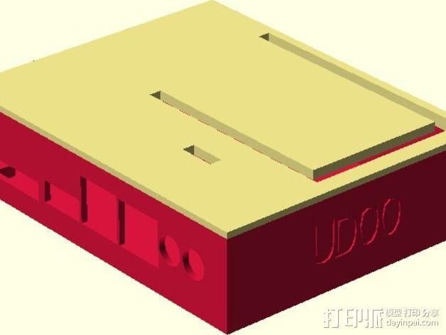 定制化UDOO主板外壳 3D模型  图5