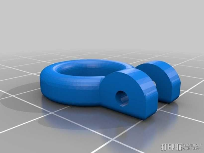 Traxxas遥控越野车保险杠零部件 3D模型  图2
