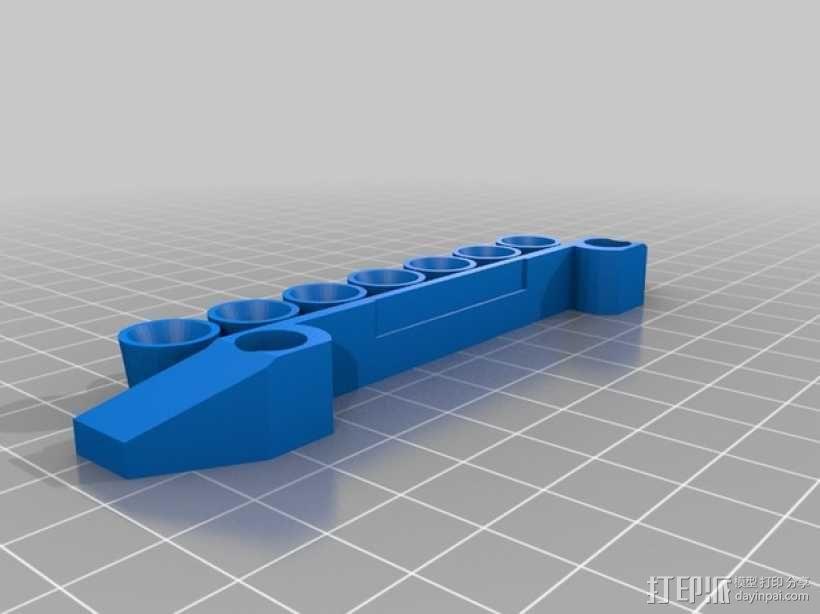 Traxxas遥控越野车保险杠零部件 3D模型  图3