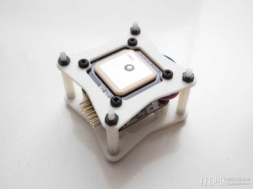 飞行控制器安装板 3D模型  图1
