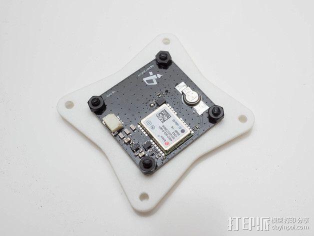 飞行控制器安装板 3D模型  图4