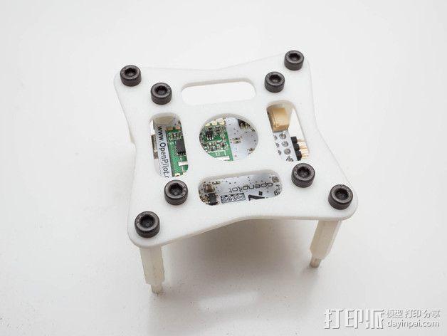 飞行控制器安装板 3D模型  图6
