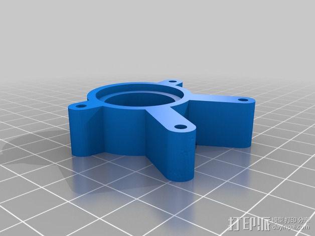 马达配适器支架 3D模型  图2