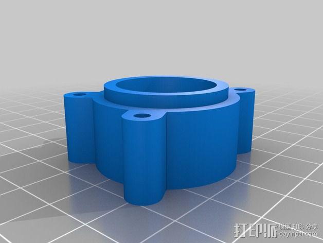 马达配适器支架 3D模型  图3