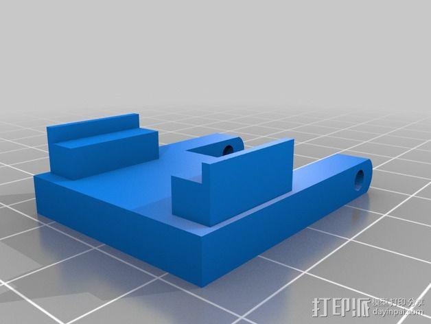 树莓派相机 模块化支撑臂 3D模型  图4