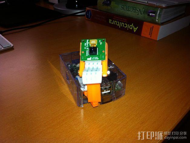 树莓派相机 模块化支撑臂 3D模型  图5