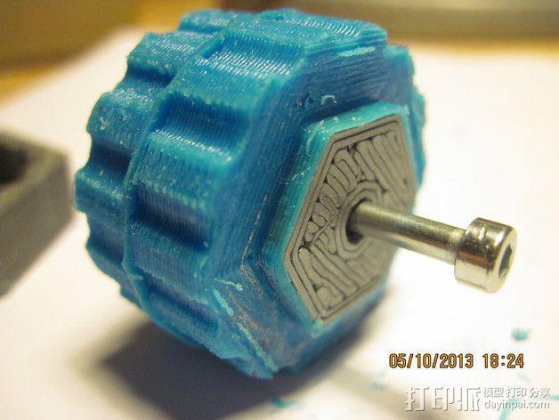 迷你机器人轮胎 3D模型  图1