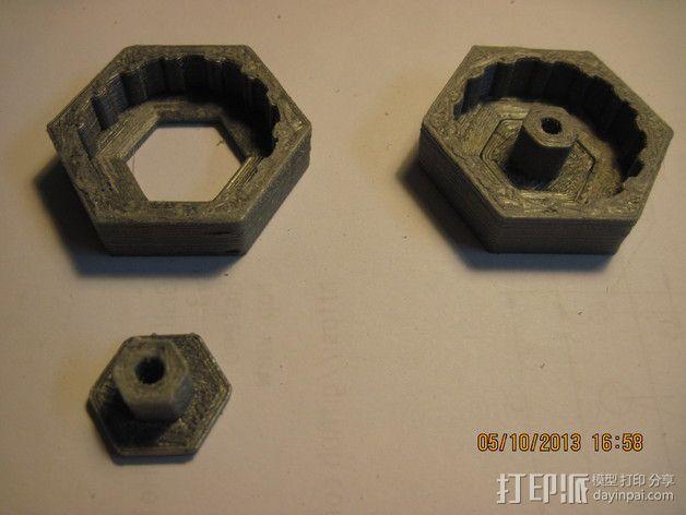 迷你机器人轮胎 3D模型  图4
