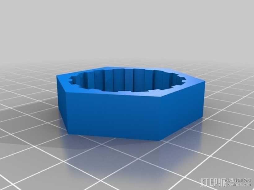 迷你机器人轮胎 3D模型  图2