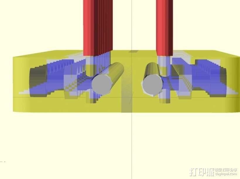 定制化的电源总线 3D模型  图2