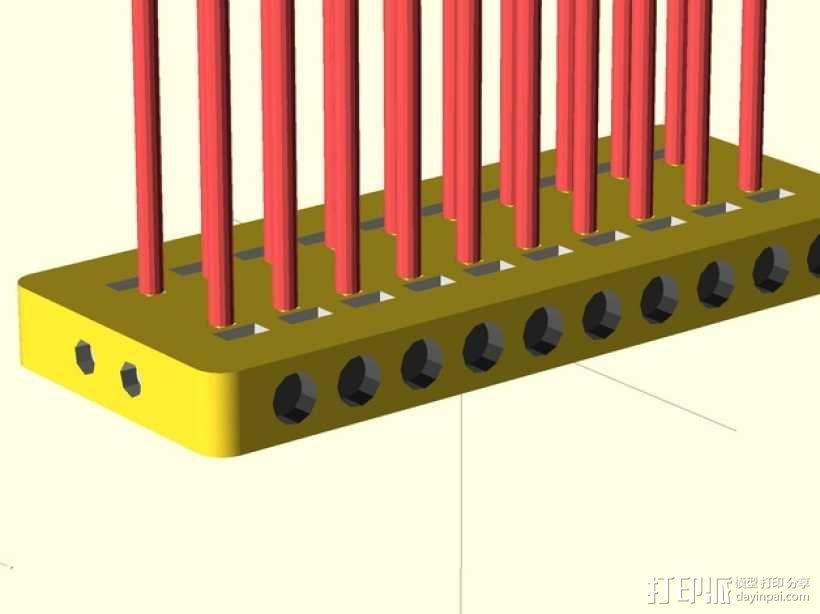 定制化的电源总线 3D模型  图3