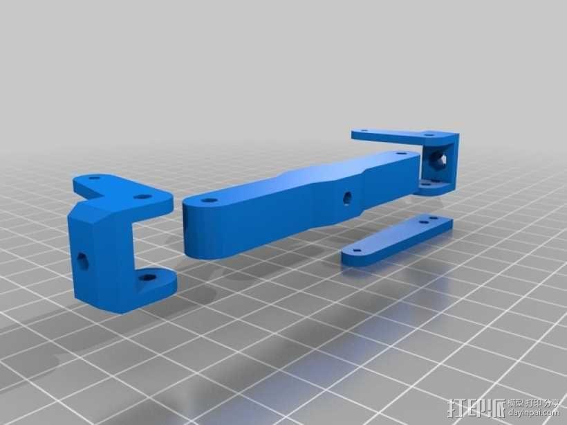 1:16模块卡车前轴 3D模型  图2