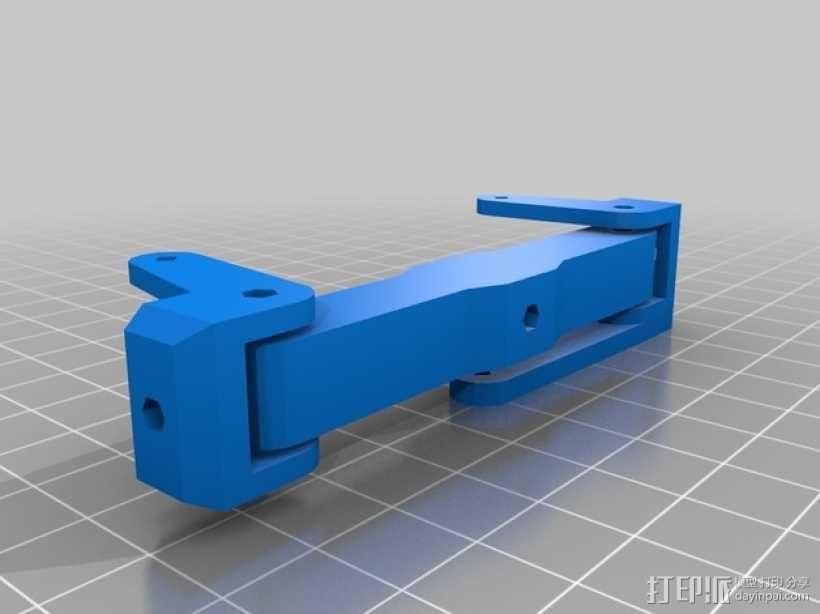 1:16模块卡车前轴 3D模型  图3